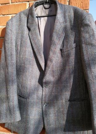 Мужской пиджак шерсть 100% финляндия fashion collection