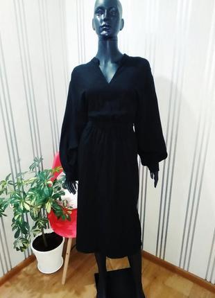 Нереально классное базовое чорное притальнное платье ❤️