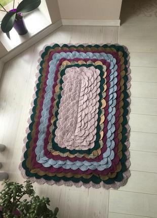 Оригінальний коврик ручної роботи-кашемір,шерсть
