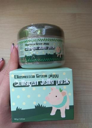 Elizavecca green piggy collagen jella pack коллагеновая маска для лица