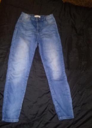 Мом джинс мам джинсы mom pull bear на  высокой посадке