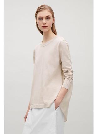 Cos блуза блузка топ шелковая спинка размер м