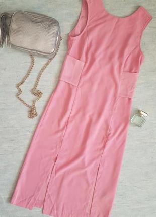 Изысканное платье миди h&m с двумя разрезами спереди.