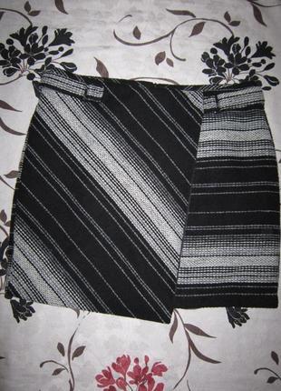Теплая мини юбка с имитацией запаха