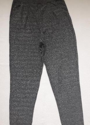 Стильные брюки с люрексом высокая посадка divided h&m