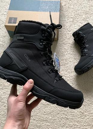 Мужские зимние оригинальные ботинки cmp railo snow boot wp nero с мембраной