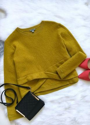 Бомбический свитер джемпер cos охра горчичный шерсть шерстяной