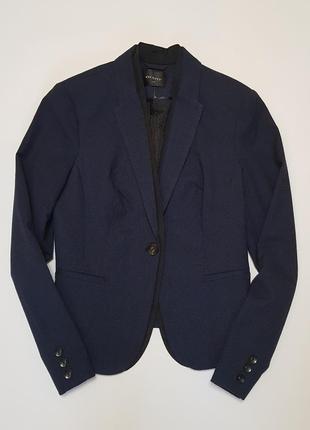 Актуальный приталенный темно- синий пиджак orsay(огромный выбор пиджаков)
