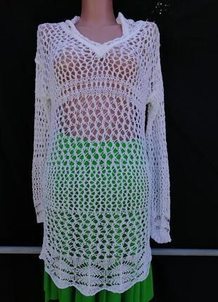 Вязаный блузон