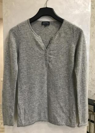 Кашемировый свитер пуловер caroll. 100% кашемир. размер s-m, 38.