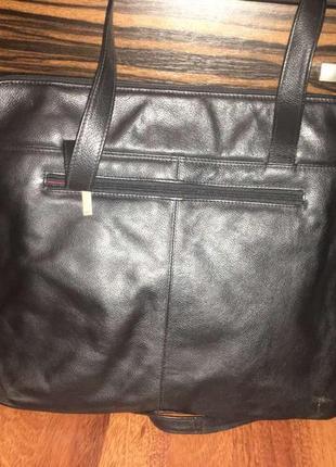 Кожаная сумка для ноутбука oconi (италия)