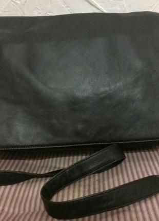Отличная большая сумка почтальон 100% кожа