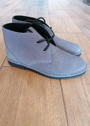 Нарядные замшевые ботинки дезерты инблу inblu