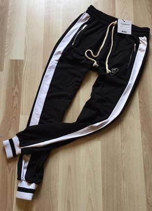 Модние спортивние штани с лампасами boohoo оригинал l