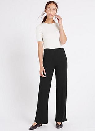 Широкие  брюки с добавлением эластана m&s collection