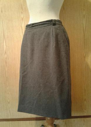 Серая юбка, шерсть, xl.