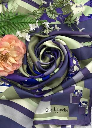 Vip ♥️😎 статусный шелковый платок guy laroche, роуль.