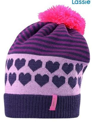 Зимняя шапка для девочки lassie by reima.размеры m/50-52
