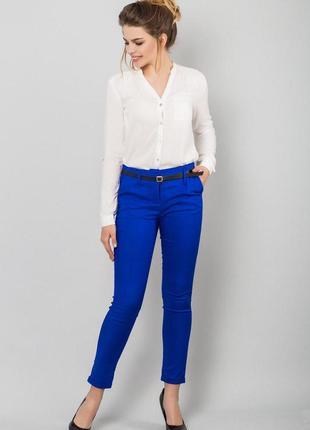 Синие зауженные брюки zara zara