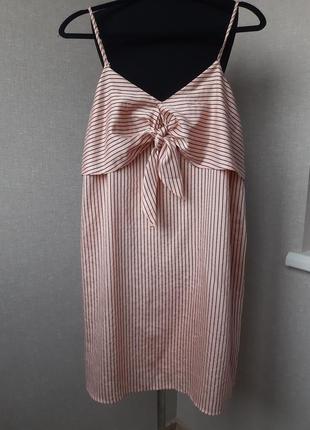 Новое платье миди,мини, пляжный сарафан в полоску m&s