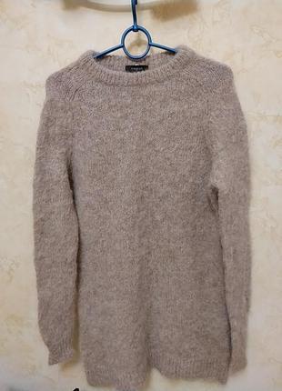Удлиненный свитер ,туника ,платье, шерсть альпака