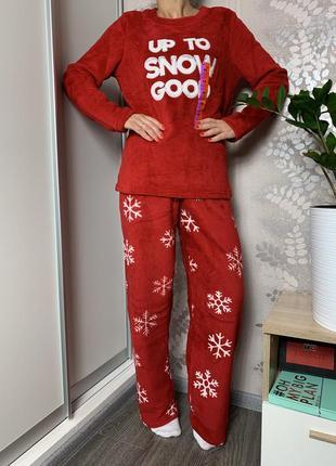 Женская пижама домашний костюм пушистый флис primark, англия.