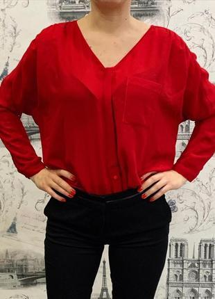 Стильная яркая блуза оверсайз от zara