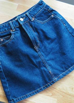 Юбка bershka джинсовая