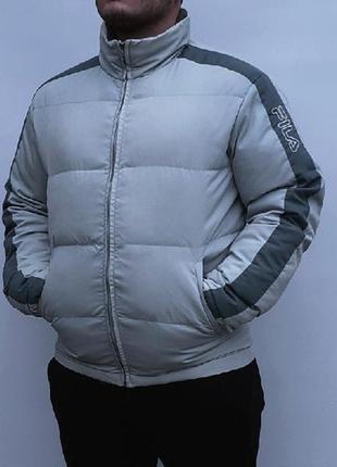 Пуховик fila (m-л) зимняя куртка / nike mammut