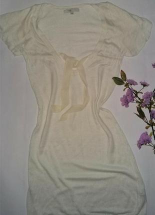 Льняная модная туника платье от бренда maje оригинал