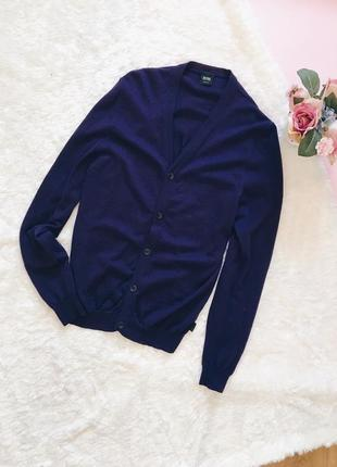 Фиолетовый шерстяной кардиган(кофта) хьюго босс