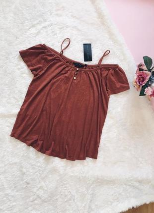Коричневая хлопковая блуза(блузка)