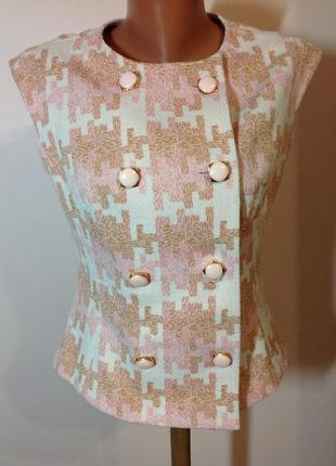 Красивая винтажная  короткая блуза. /m/ brend bleyle