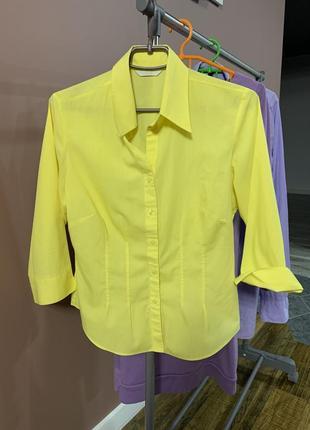 Ярко желтая рубашка
