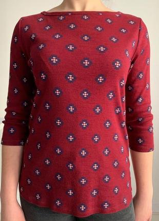 Бордовая кофта, свитер от m&s.