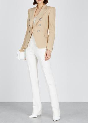 Брендовый коричневый пиджак жакет блейзер с карманами together вискоза
