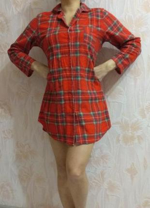 Тёплая байковая рубашка халатик adore р. 44-46