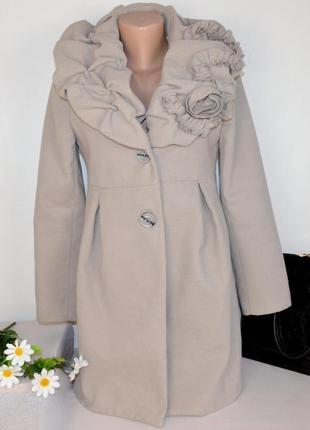 Брендовое демисезонное пальто с карманами nadine италия