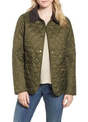 Куртка ветровка стёганная хаки barbour оригинал