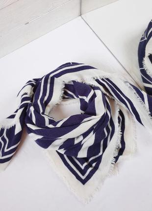 Шарф геометрия полосатый платок зимний теплый палантин