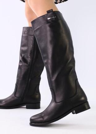 Lux обувь! шикарного качества зимние натуральные высокие сапоги 👢 трубы