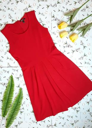 Шикарное насыщенное красное платье mango миди, размер 44 - 46