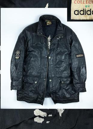Adidas si moritz 1948 leather jacket кожаная куртка винтаж