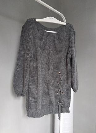 Удлиненный итальянский свитер с шерстью
