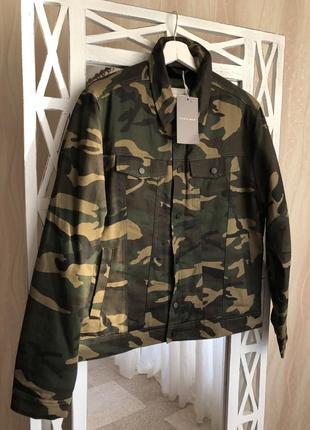 Утеплённая джинсовая куртка «милитари» zara