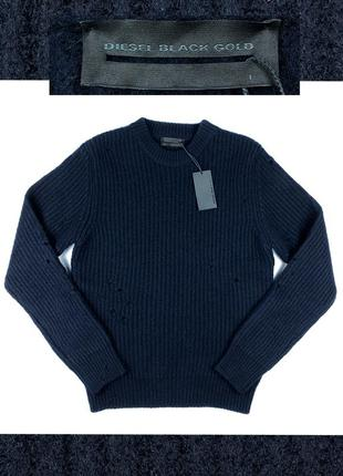 Diesel black gold мужской свитер шерсть
