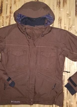Лыжная термо куртка columbia titanium omni-tech с меховой подкладкой eur l
