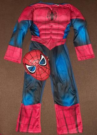 Карнавальный костюм человек паук на 3-4 года.