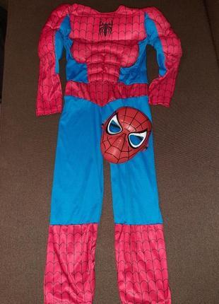 Карнавальный костюм человек паук светиться 5-7 лет.