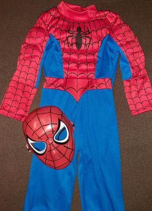 Карнавальный костюм человек паук 3-4 года.